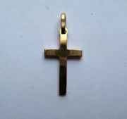 9ct Gold Small solid Cross Pendant 0.8g